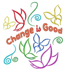 Change Is Good embroidery design