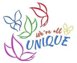 Were All Unique embroidery design