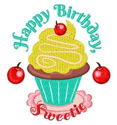 Happy Birthday Sweetie embroidery design