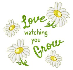 Watching You Grow embroidery design
