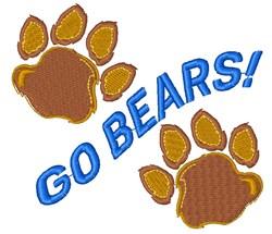 Bear Paw Go Bears embroidery design