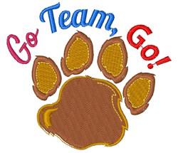 Bear Paw Go Team Go embroidery design