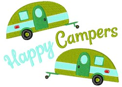 Camper Happy Campers embroidery design