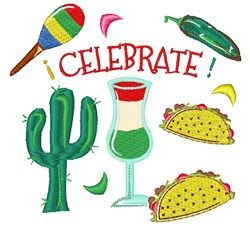 Cinco De Mayo Celebrate embroidery design