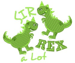 Dino Sir Rex A Lot embroidery design