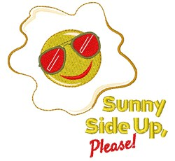 Egg Sunny Side Up Please embroidery design