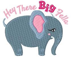 Elephant Hey There Big Fella embroidery design