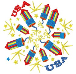 Fireworks USA embroidery design