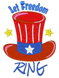 Fourth Hat Let Freedom Ring embroidery design