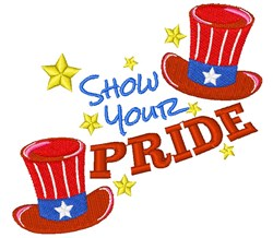 Fourth Hat Show Your Pride embroidery design