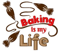 Frosting Baking Is My Life embroidery design