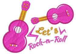 Guitar Let s Rock N Roll embroidery design