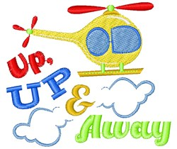 Helicopter Up Up & Away embroidery design
