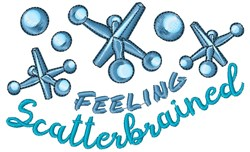 Jacks Feeling Scatterbrained embroidery design