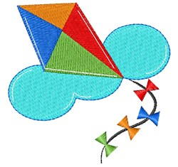 Kite embroidery design