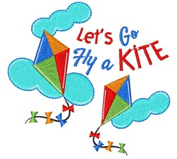 Kite Let s Go Fly A Kite embroidery design