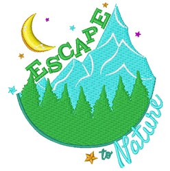 Mountains Escape To Nature embroidery design