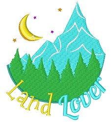 Mountains Land Lover embroidery design