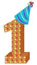 Birthday One embroidery design