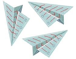 Paper Planes embroidery design