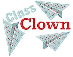 Paper Planes Class Clown embroidery design