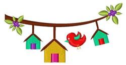 Bird Houses embroidery design