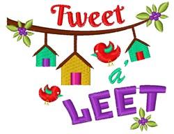 Bird Houses Tweet A Leet embroidery design