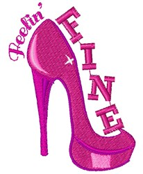 Pink Heels Feelin Fine embroidery design