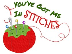 Pin Cushion You ve Got Me In Stitches embroidery design