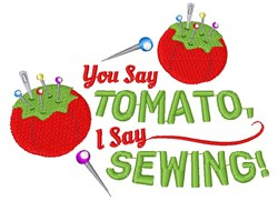 Pin Cushion You Say Tomato I Say Sewing embroidery design