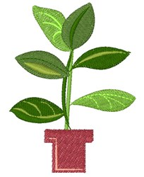Plant embroidery design