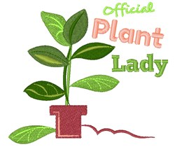 Plant Official Plant Lady embroidery design