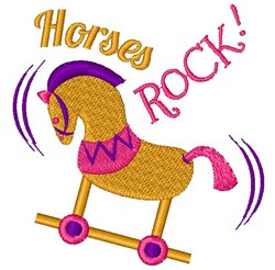 Rocking Horse Horses Rock embroidery design