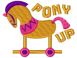 Rocking Horse Pony Up embroidery design