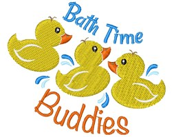 Rubber Duck Bath Time Buddies embroidery design