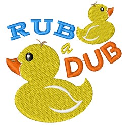 Rubber Duck Rub A Dub embroidery design
