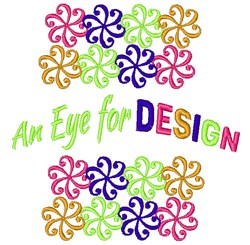 Swirl Pattern An Eye For Design embroidery design