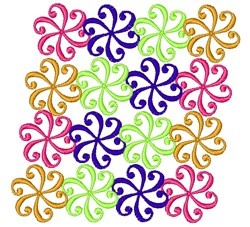 Swirl Pattern embroidery design