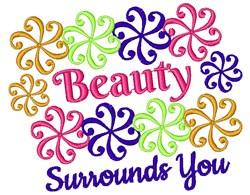 Swirl Pattern Beauty Surrounds You embroidery design