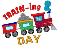 Train Training Day embroidery design