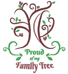 Tree Proud Of My Family Tree embroidery design