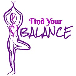 Tree Pose Find Your Balance embroidery design