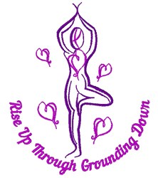 Tree Pose Rise Up Through Grounding Down embroidery design