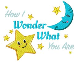 Twinkle How I Wonder What You Are embroidery design