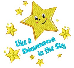 Twinkle Like A Diamond In The Sky embroidery design