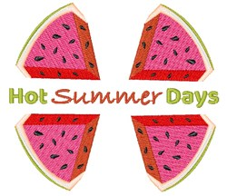 Watermelon Hot Summer Days embroidery design