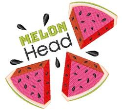 Watermelon Melon Head embroidery design