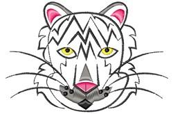 White Tiger embroidery design