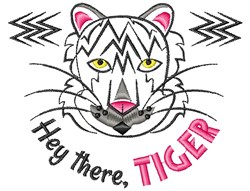 White Tiger Hey There Tiger embroidery design