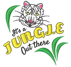 White Tiger It s A Jungle Out There embroidery design